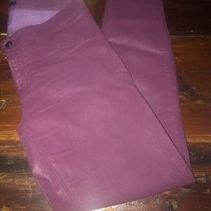 JBrand Super Skinny Coated Jeans Deep Purple